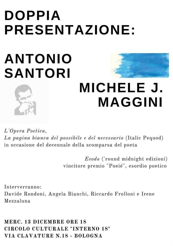 """Prima presentazione di """"Esodo"""" di Michele J. Maggini a Bologna"""